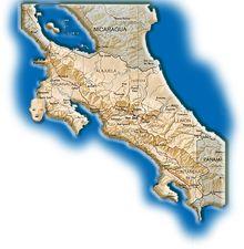Carte de la région des Chorotegas