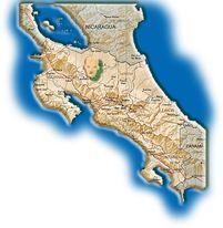 Carte Nord Costa Rica Maleku