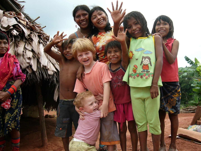 San Blas Kuna enfants Panamá